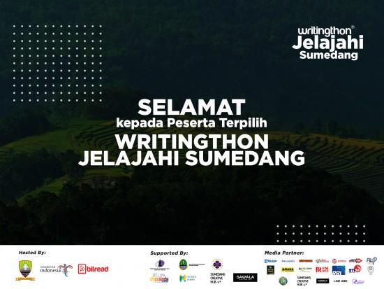 Pengumuman Pemenang Writingthon Jelajahi Sumedang 2020