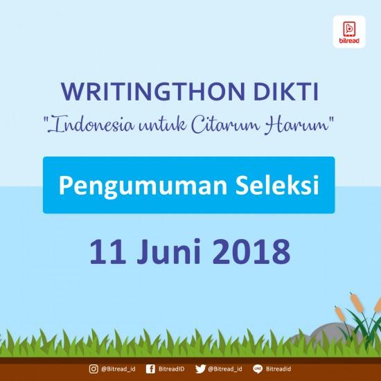 Pengumuman Peserta Writingthon Dikti